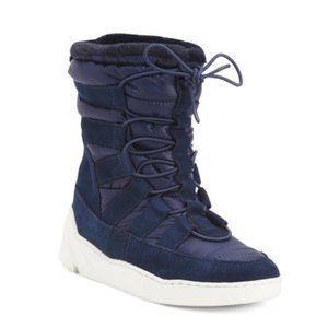 NWT J/Slides Nylon/Suede High Top Sneaker Boots